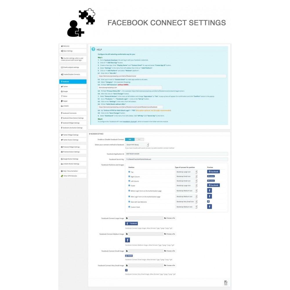 module - Compartir contenidos y Comentarios - Social Logins and Coupons + Addons + Statistics 16 in 1 - 26