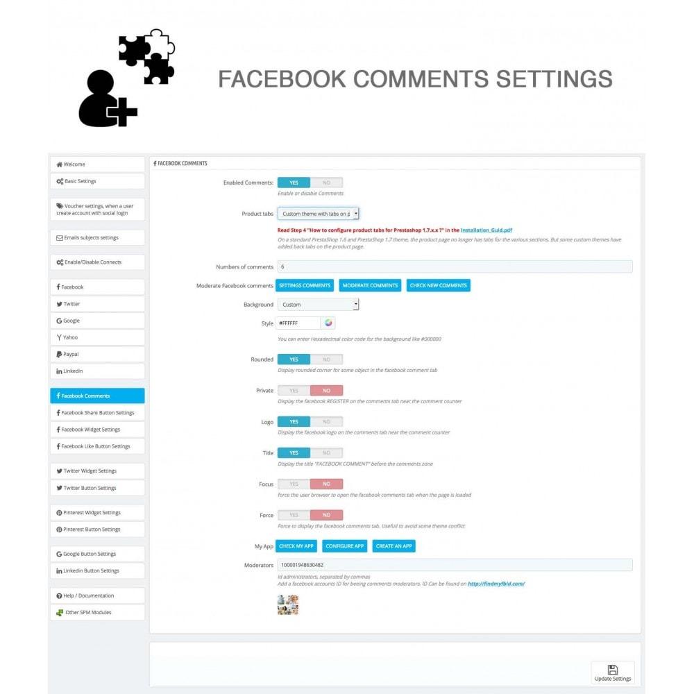 module - Compartir contenidos y Comentarios - Social Logins and Coupons + Addons + Statistics 16 in 1 - 29
