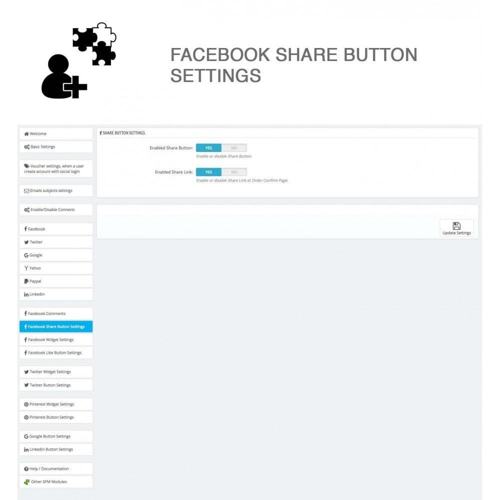 module - Compartir contenidos y Comentarios - Social Logins and Coupons + Addons + Statistics 16 in 1 - 30