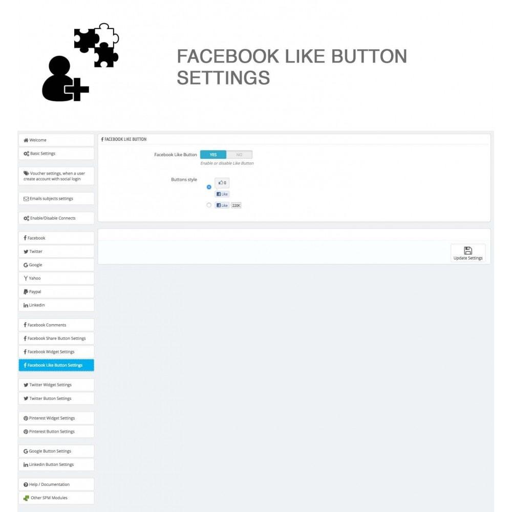 module - Compartir contenidos y Comentarios - Social Logins and Coupons + Addons + Statistics 16 in 1 - 32