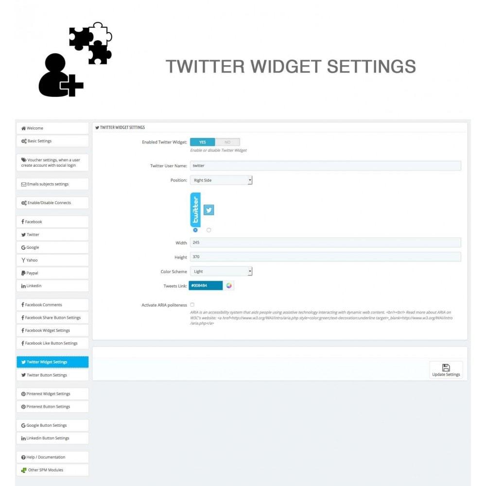 module - Compartir contenidos y Comentarios - Social Logins and Coupons + Addons + Statistics 16 in 1 - 33
