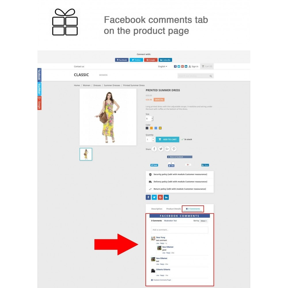 module - Share Buttons & Comments - Full Pack for 4 Social Networks + Statistics - 2