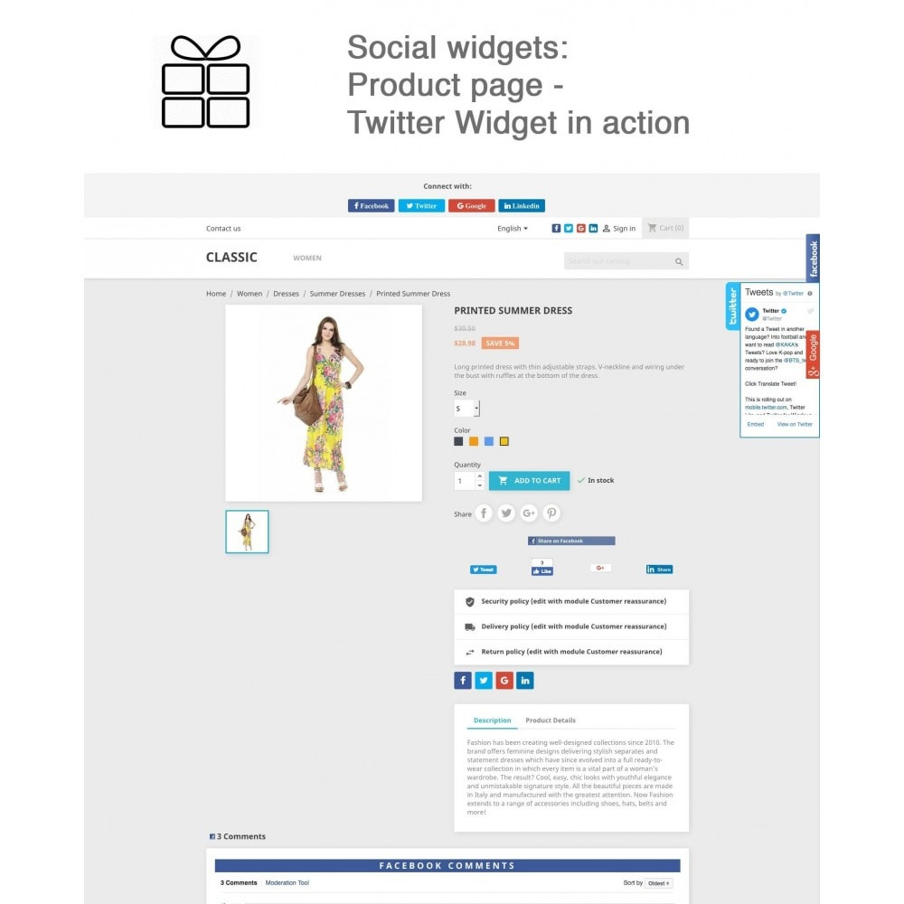 module - Share Buttons & Comments - Full Pack for 4 Social Networks + Statistics - 16