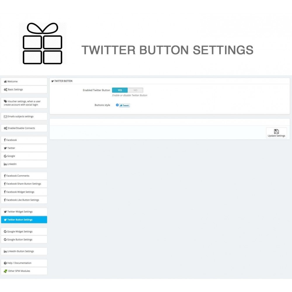 module - Share Buttons & Comments - Full Pack for 4 Social Networks + Statistics - 36