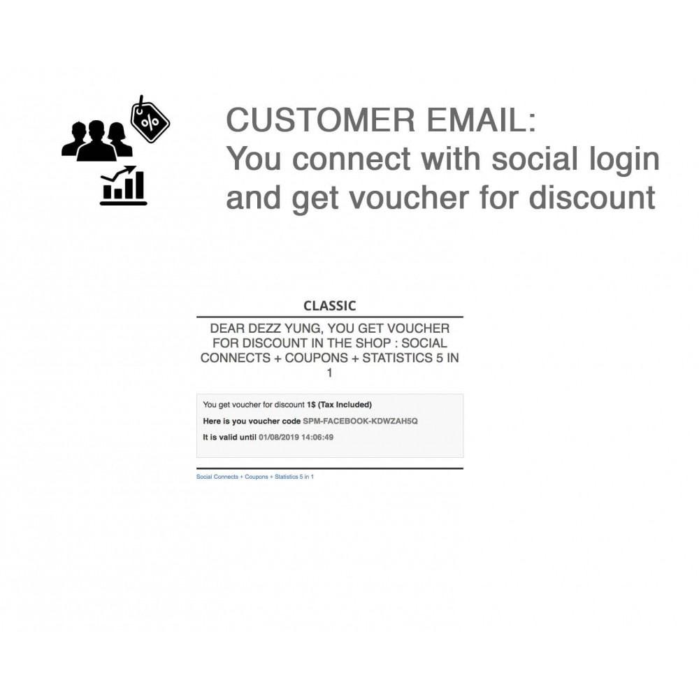 module - Bons de réduction sur les réseaux sociaux - Social Login - Paypal, Google, Twitter, LinkedIn, ... - 6