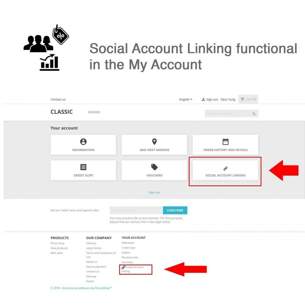 module - Bons de réduction sur les réseaux sociaux - Social Login - Paypal, Google, Twitter, LinkedIn, ... - 7