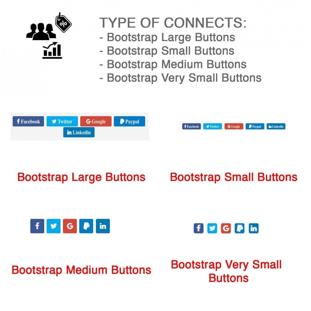 module - Bons de réduction sur les réseaux sociaux - Social Login - Paypal, Google, Twitter, LinkedIn, ... - 9
