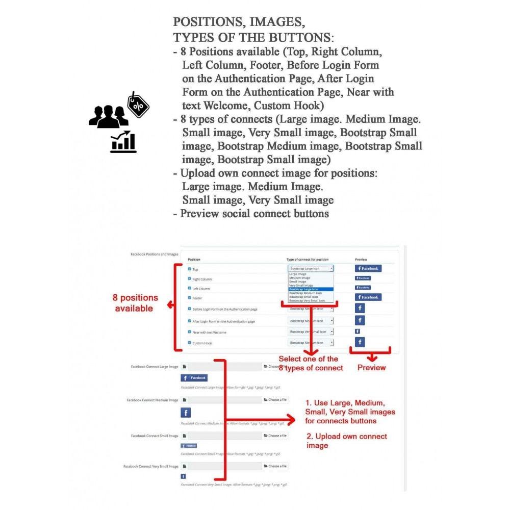 module - Bons de réduction sur les réseaux sociaux - Social Login - Paypal, Google, Twitter, LinkedIn, ... - 10
