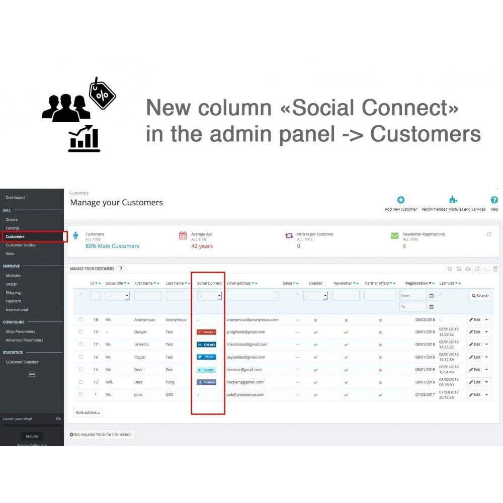 module - Bons de réduction sur les réseaux sociaux - Social Login - Paypal, Google, Twitter, LinkedIn, ... - 15