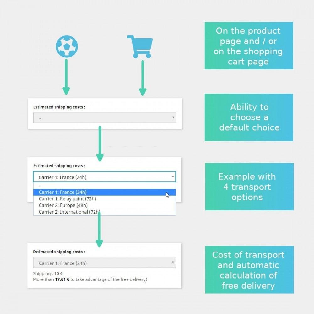 module - Koszty wysyłki - Customer simulator cost and delivery time - 1