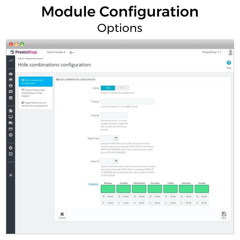 module - Combinaciones y Personalización de productos - Ocultar o mostrar atributos y combinaciones - 2