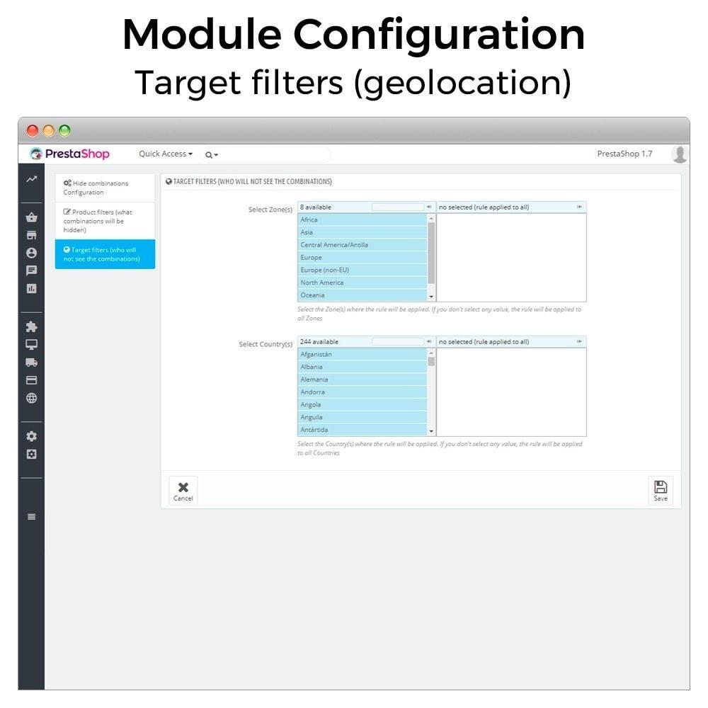 module - Combinaciones y Personalización de productos - Ocultar o mostrar atributos y combinaciones - 7