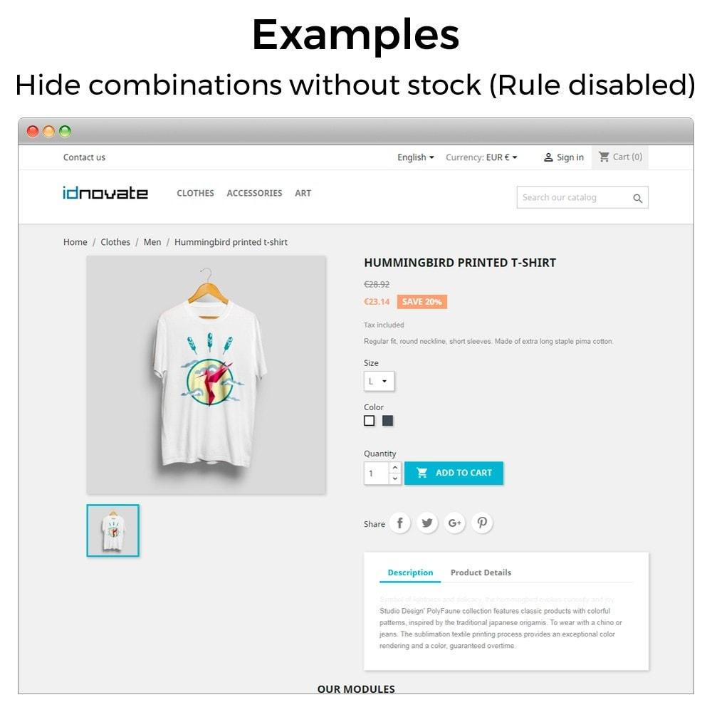module - Combinaciones y Personalización de productos - Ocultar o mostrar atributos y combinaciones - 11