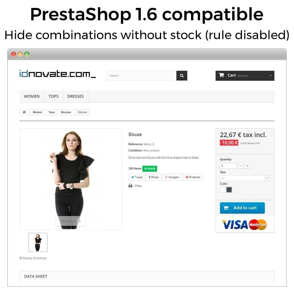 module - Combinaciones y Personalización de productos - Ocultar o mostrar atributos y combinaciones - 17