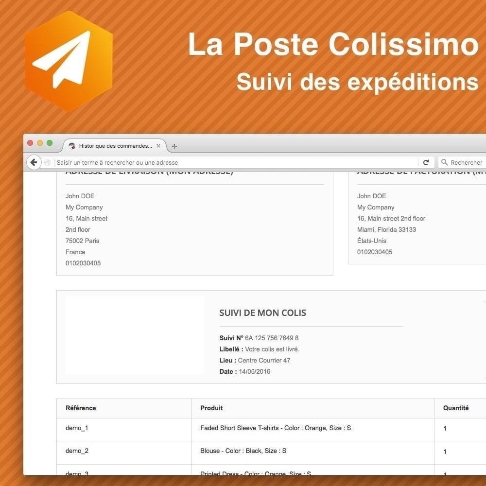 module - Sendungsverfolgung - Colissimo Suivi des expéditions - 1