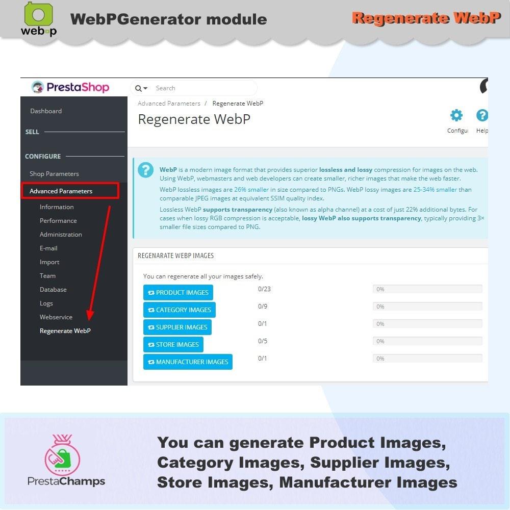 module - Pokaz produktów - Google WebP Image Generator - 2021 Update - 10