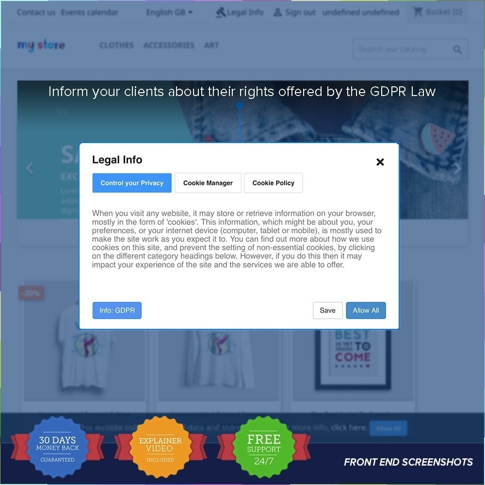 module - Wzmianki prawne - EU GDPR - General Data Protection Regulation - 10