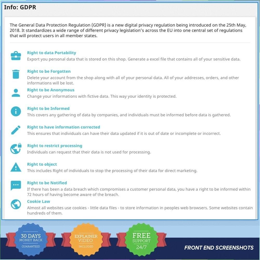 module - Wzmianki prawne - EU GDPR - General Data Protection Regulation - 21