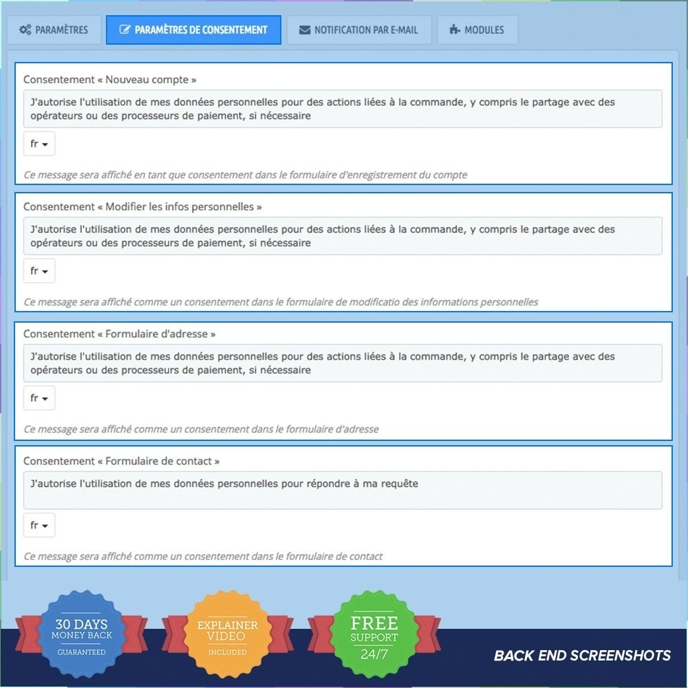 module - Législation - Règlement Général sur la Protection des Données - 4