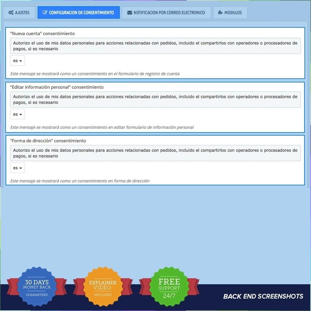 module - Marco Legal (Ley Europea) - GDPR UE - Regalmento General de Protección de Datos - 4