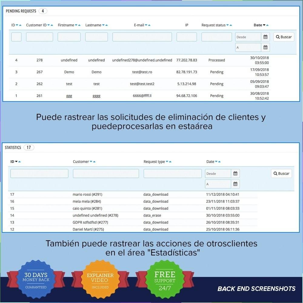 module - Marco Legal (Ley Europea) - GDPR UE - Regalmento General de Protección de Datos - 9
