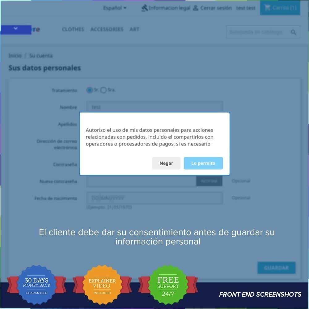 module - Marco Legal (Ley Europea) - GDPR UE - Regalmento General de Protección de Datos - 17