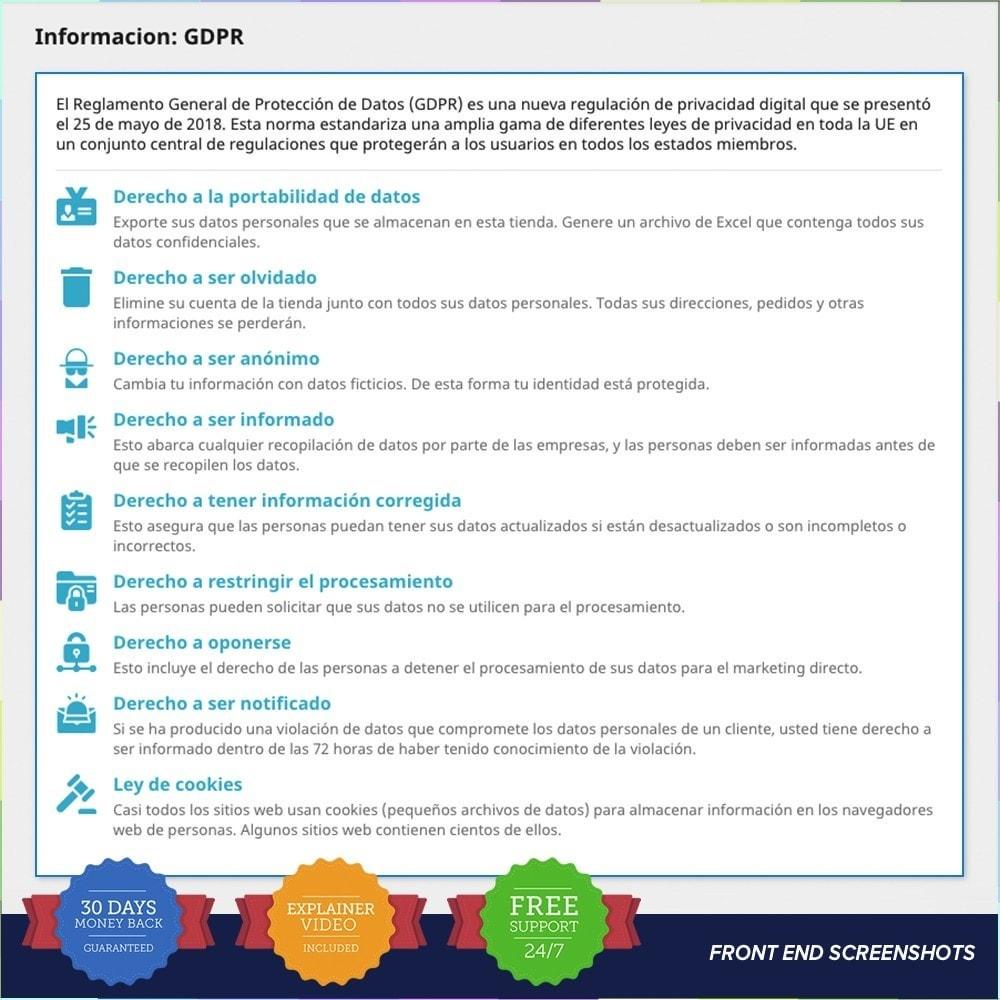module - Marco Legal (Ley Europea) - GDPR UE - Regalmento General de Protección de Datos - 20