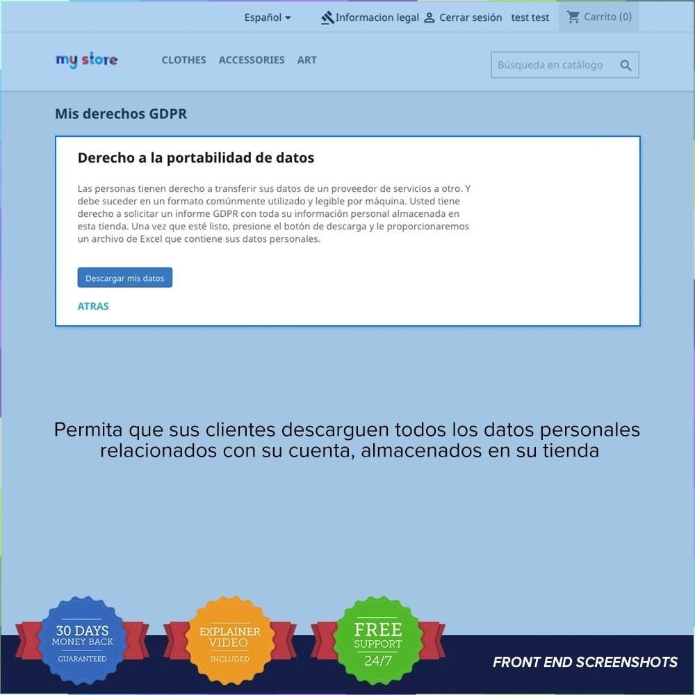 module - Marco Legal (Ley Europea) - GDPR UE - Regalmento General de Protección de Datos - 21