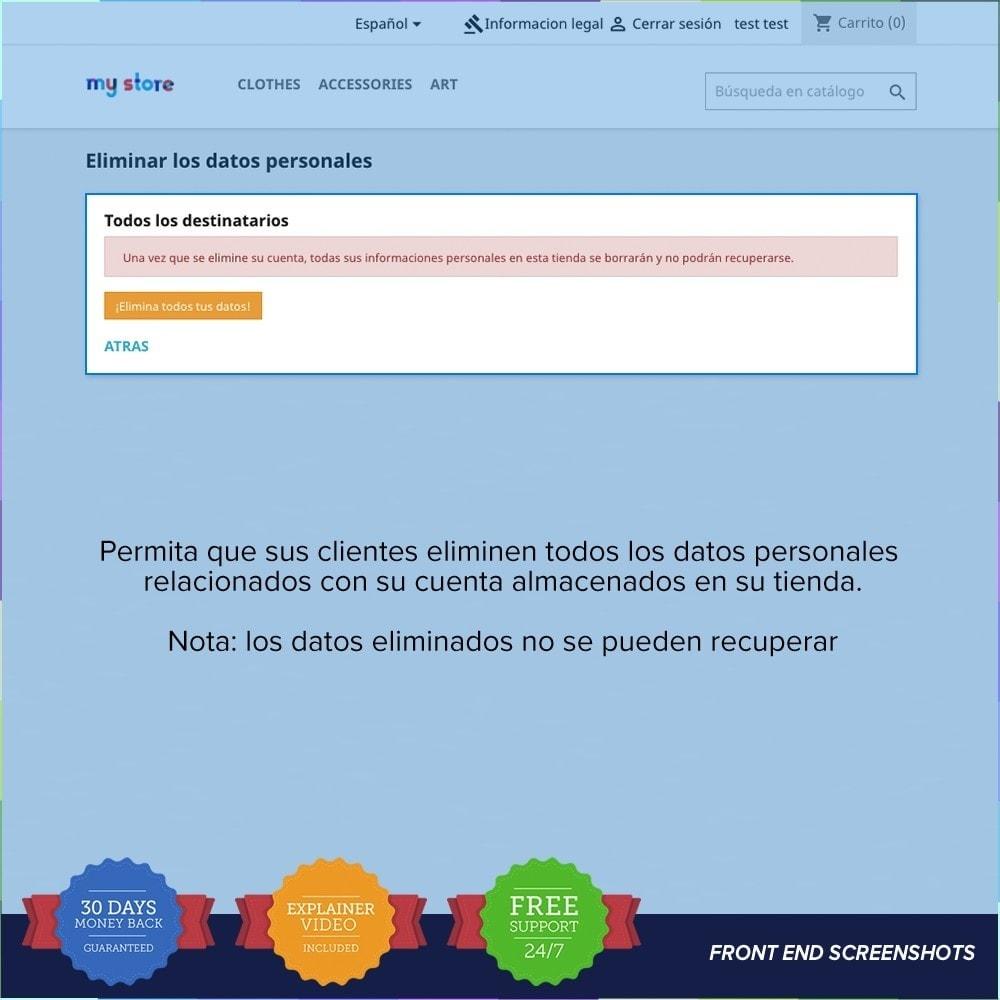 module - Marco Legal (Ley Europea) - GDPR UE - Regalmento General de Protección de Datos - 22