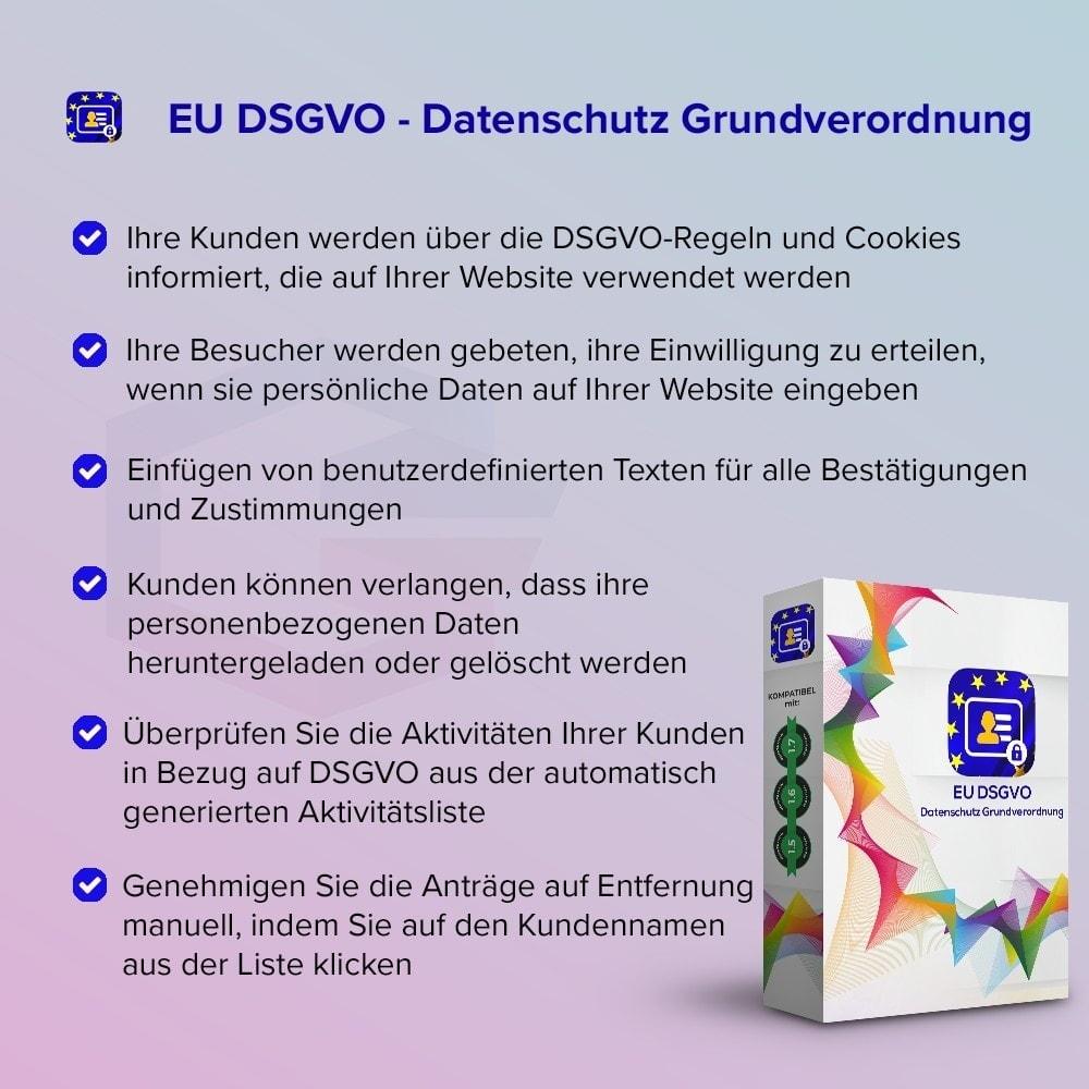 module - Rechtssicherheit - EU DSGVO – EU-Datenschutz Grundverordnung - 1