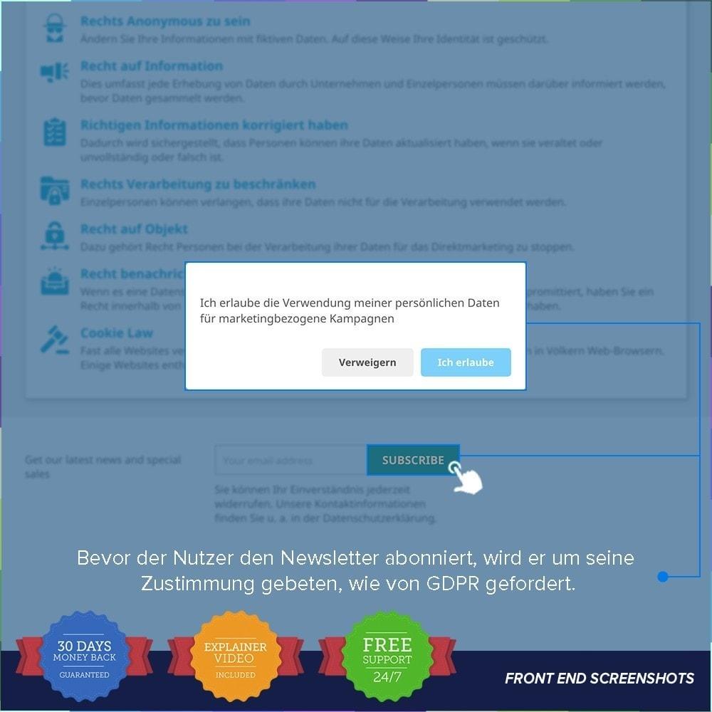 module - Rechtssicherheit - EU DSGVO – EU-Datenschutz Grundverordnung - 13