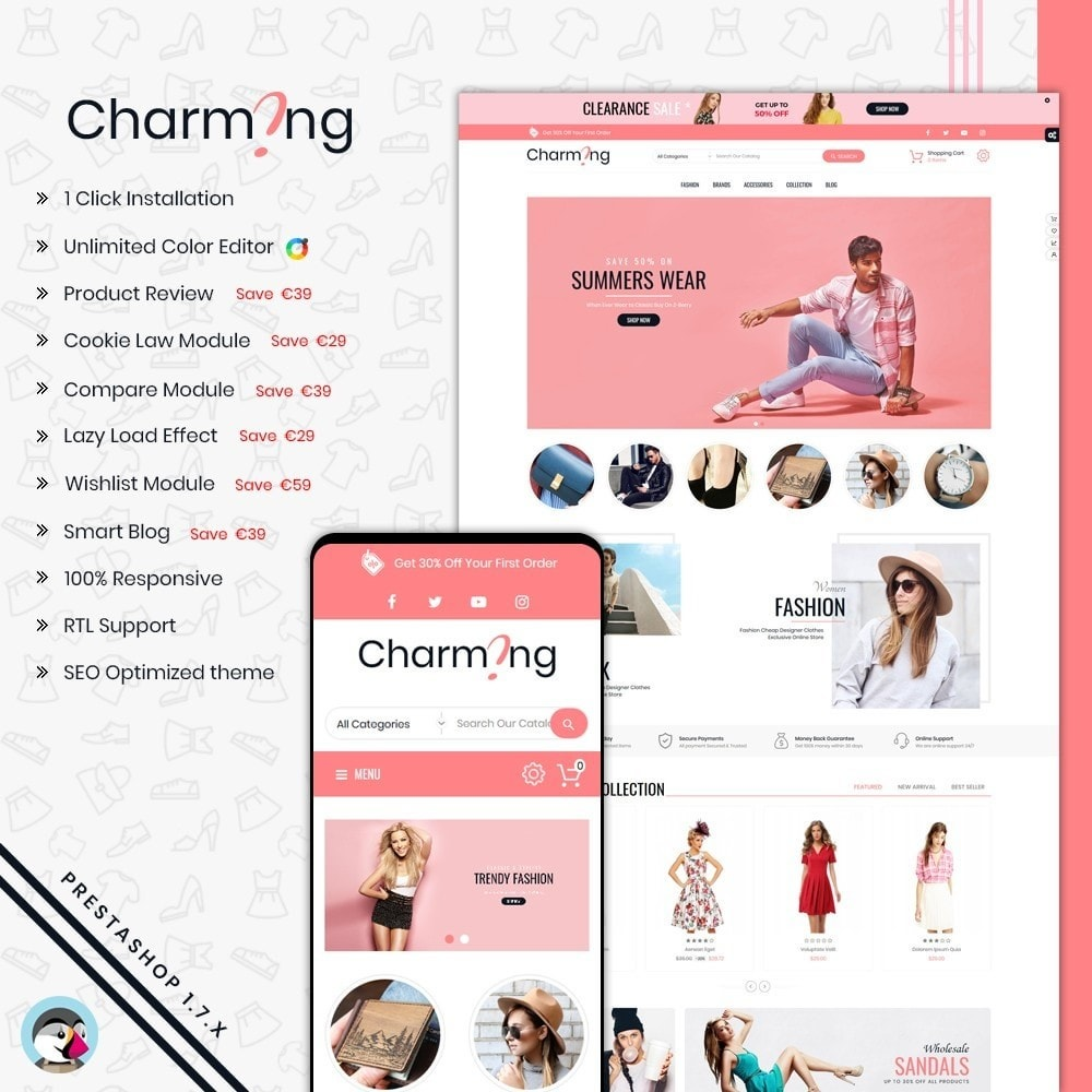 theme - Moda & Calzature - Charming Superstore Shop Template - 1