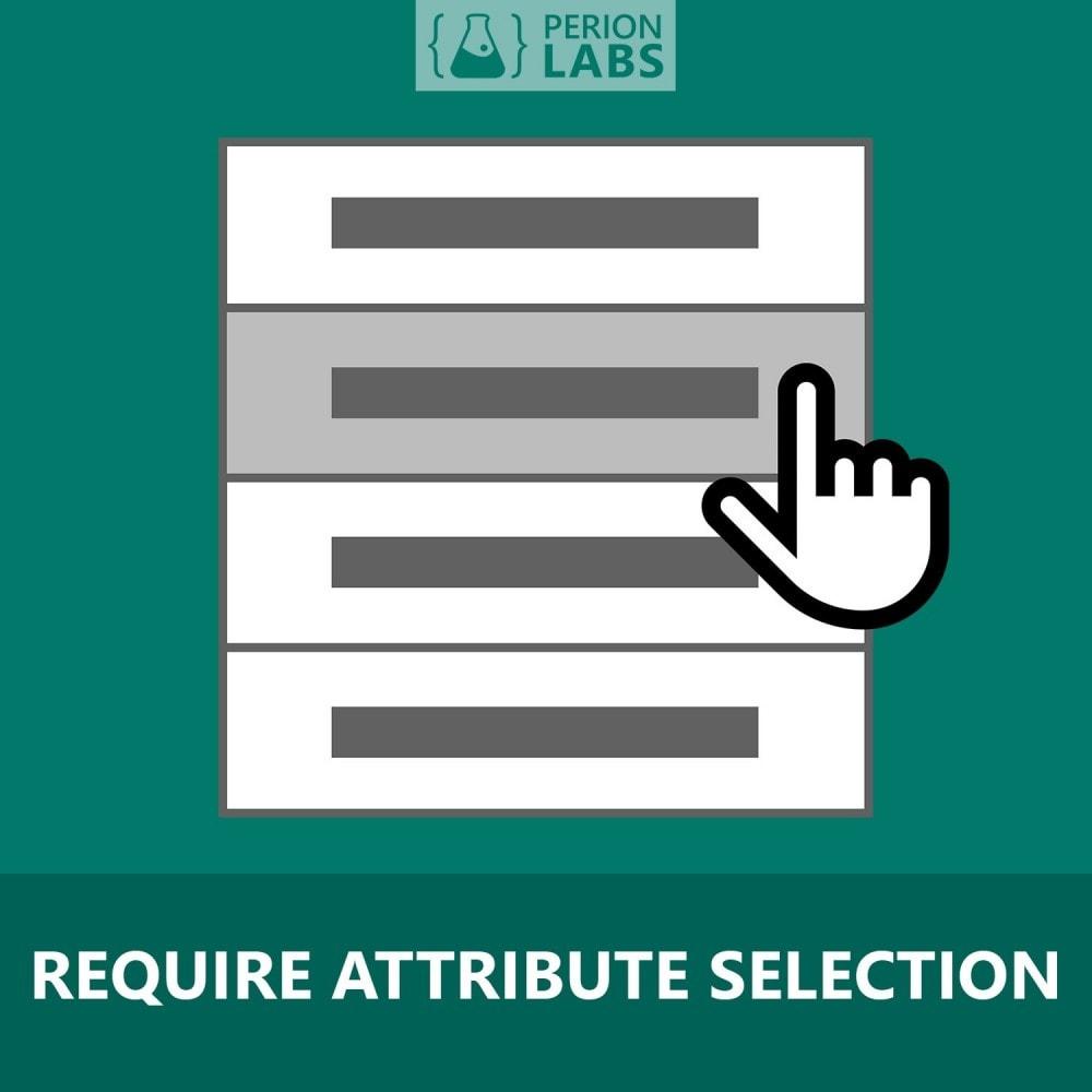 module - Вариаций и персонализации товаров - Require Attribute Selection - 1