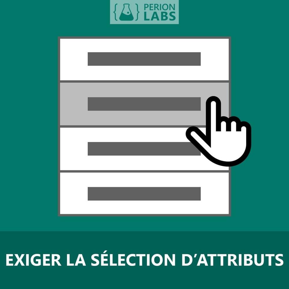 module - Déclinaisons & Personnalisation de produits - Exiger la sélection d'attributs - 1
