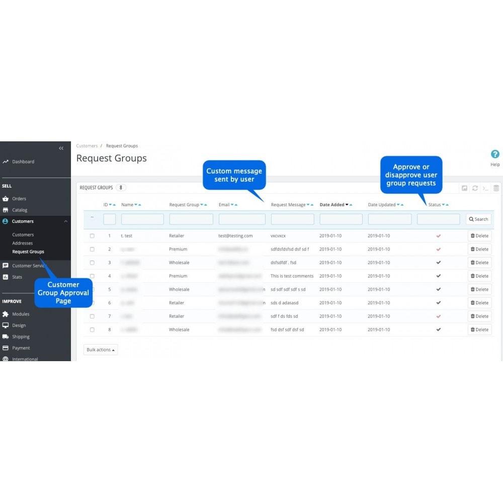 module - Registration & Ordering Process - Choose Customer Group at Registration - 5