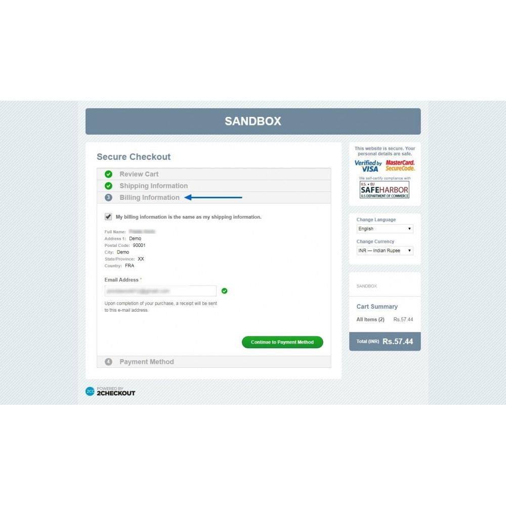 module - Pagamento por cartão ou por carteira - 2Checkout Payment- Accept Paypal, Credit/Debit Card - 10