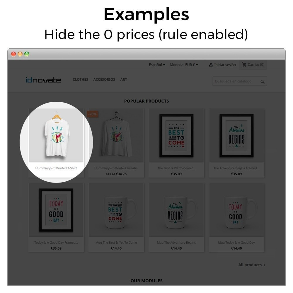 module - Управление ценами - Hide or show price and disallow purchase - 9
