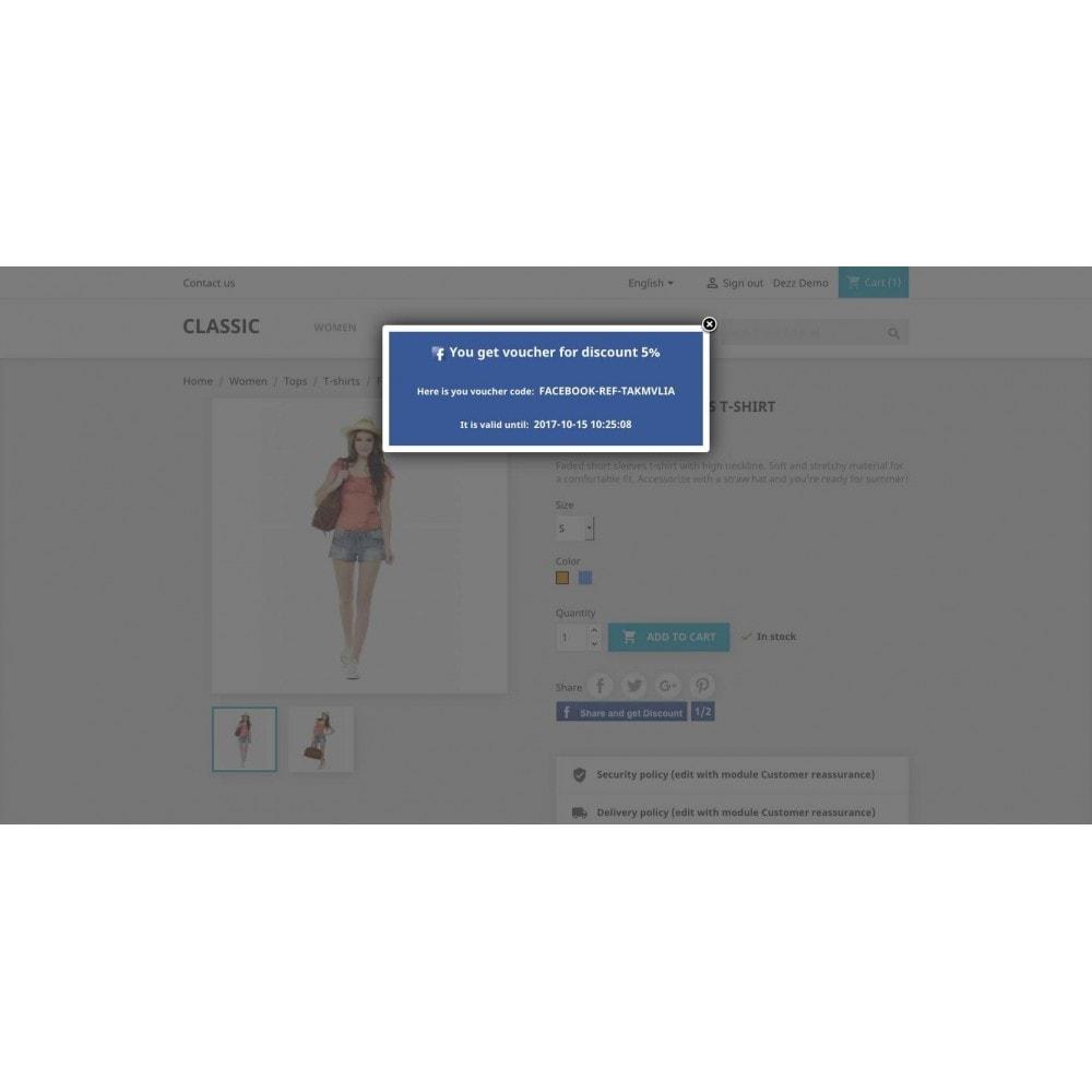 module - Kortingsbonnen - Referrals for Social network - 9