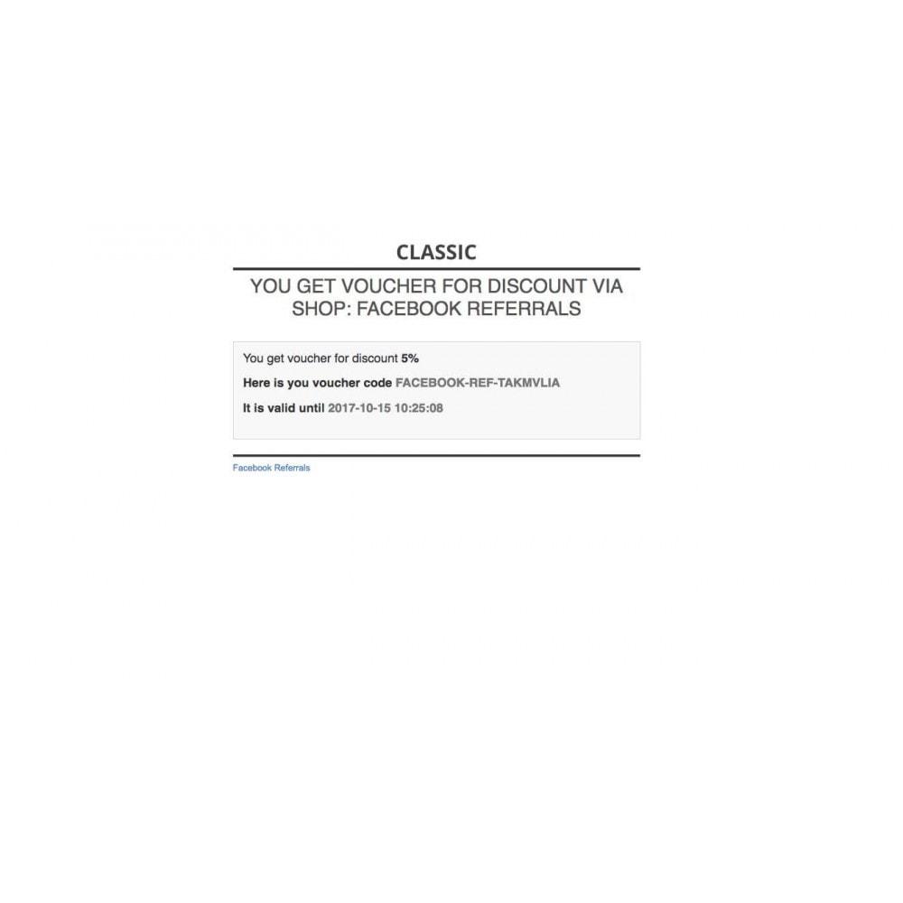 module - Kortingsbonnen - Referrals for Social network - 10