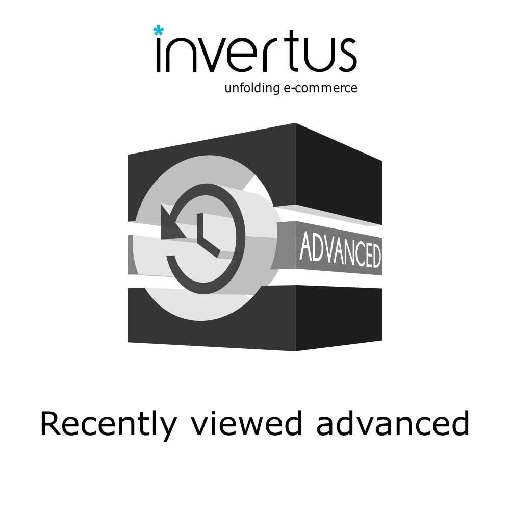 module - Ferramentas de Administração - Recently Viewed Advanced - 1