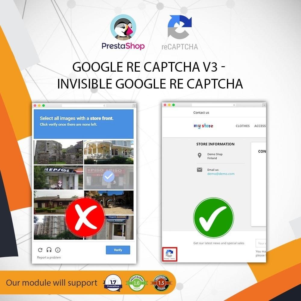 module - Security & Access - Invisible Google re CAPTCHA v3 + Block Spam Customer - 1
