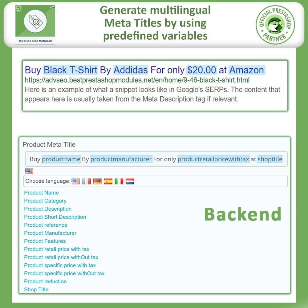 module - SEO (Referenciamento natural) - Meta Tag Manager -AutoGenerate Meta Title, Description - 4