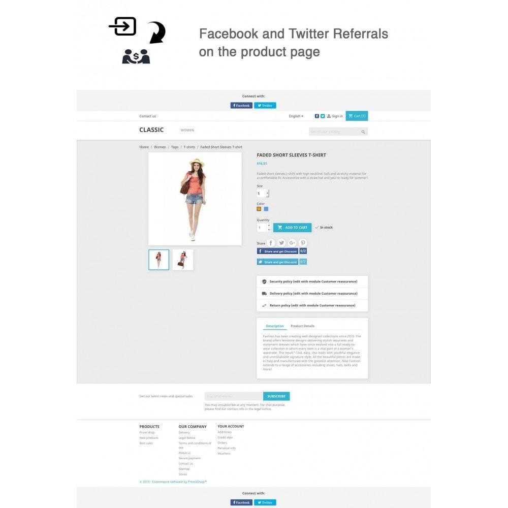 module - Gutschein in sozialen Netzwerken - Social Referrals + Connects (2 in 1) - 1