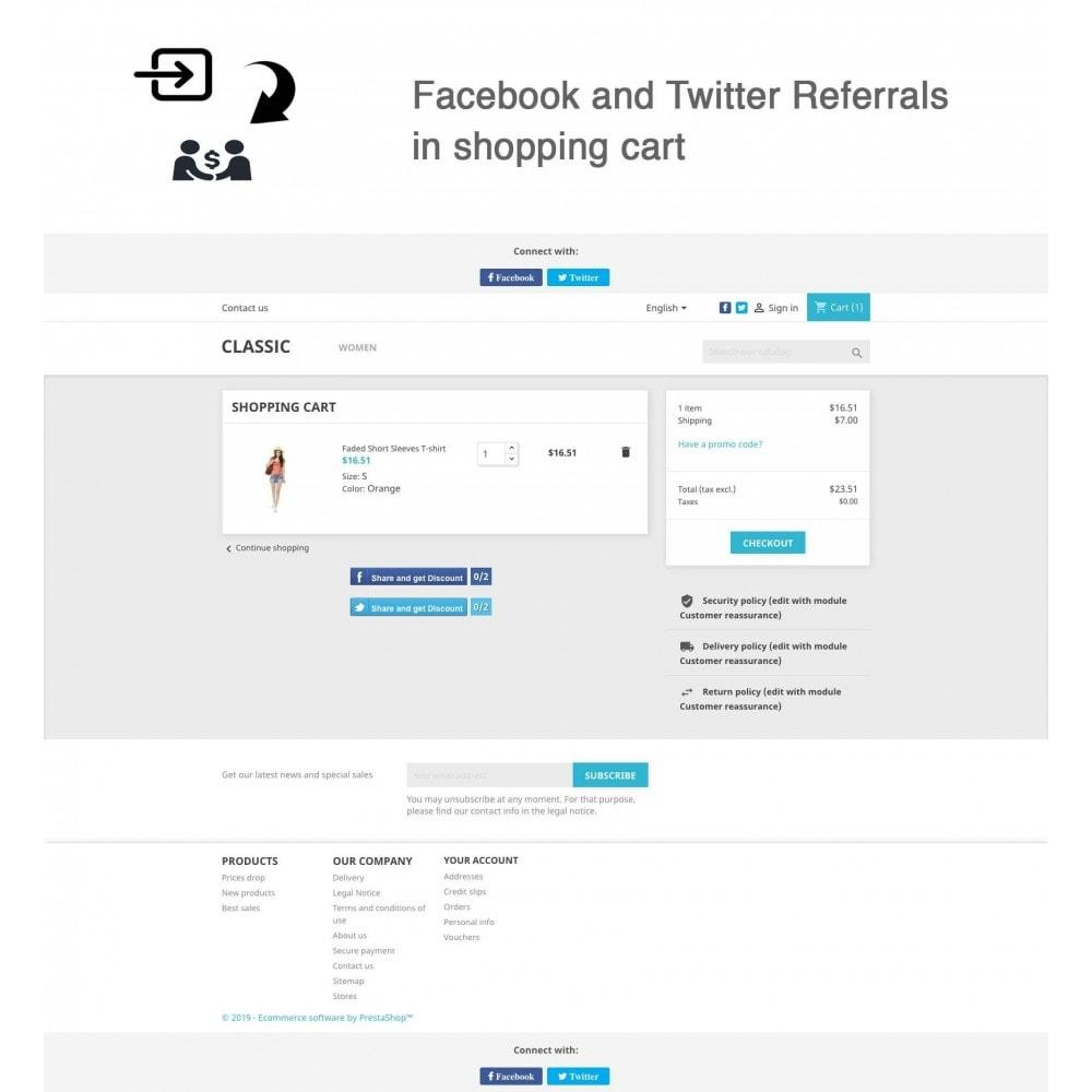 module - Gutschein in sozialen Netzwerken - Social Referrals + Connects (2 in 1) - 2