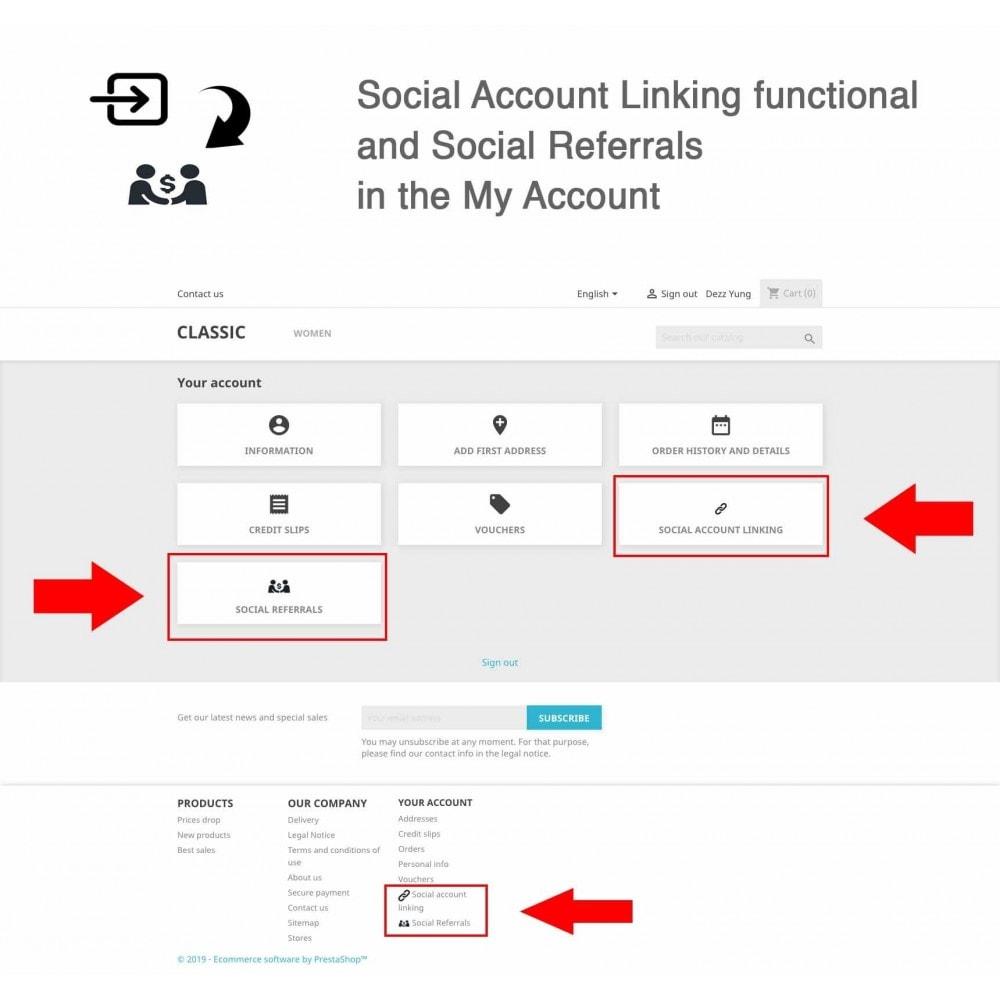 module - Gutschein in sozialen Netzwerken - Social Referrals + Connects (2 in 1) - 10
