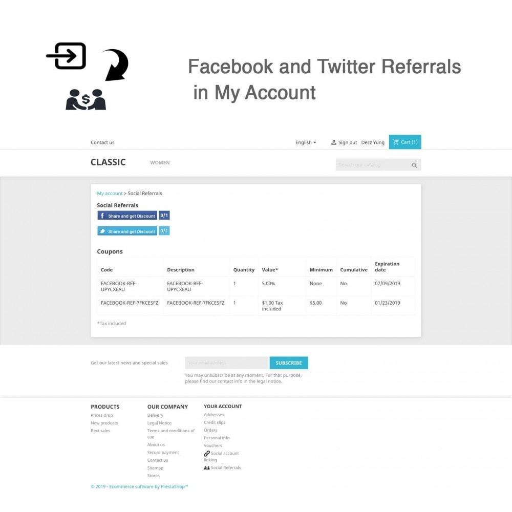 module - Gutschein in sozialen Netzwerken - Social Referrals + Connects (2 in 1) - 12