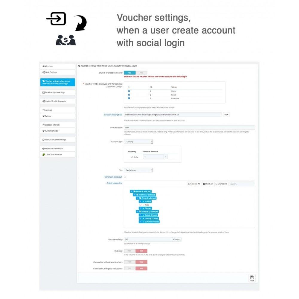 module - Gutschein in sozialen Netzwerken - Social Referrals + Connects (2 in 1) - 31