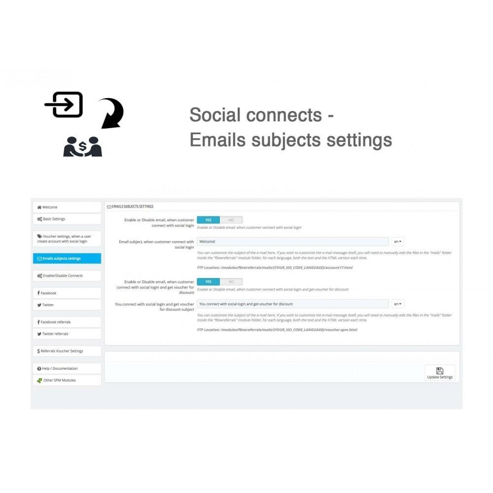 module - Gutschein in sozialen Netzwerken - Social Referrals + Connects (2 in 1) - 32