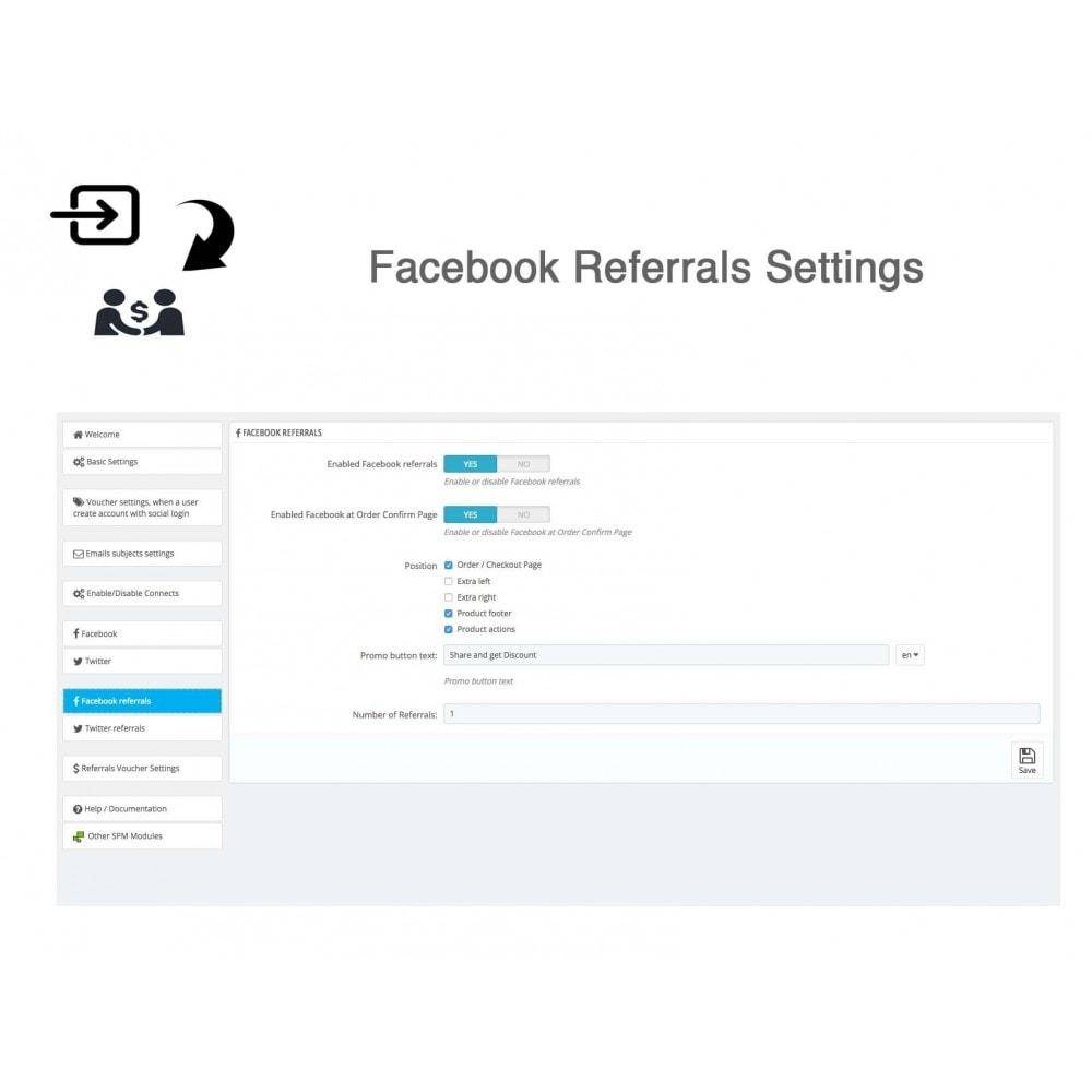 module - Gutschein in sozialen Netzwerken - Social Referrals + Connects (2 in 1) - 34