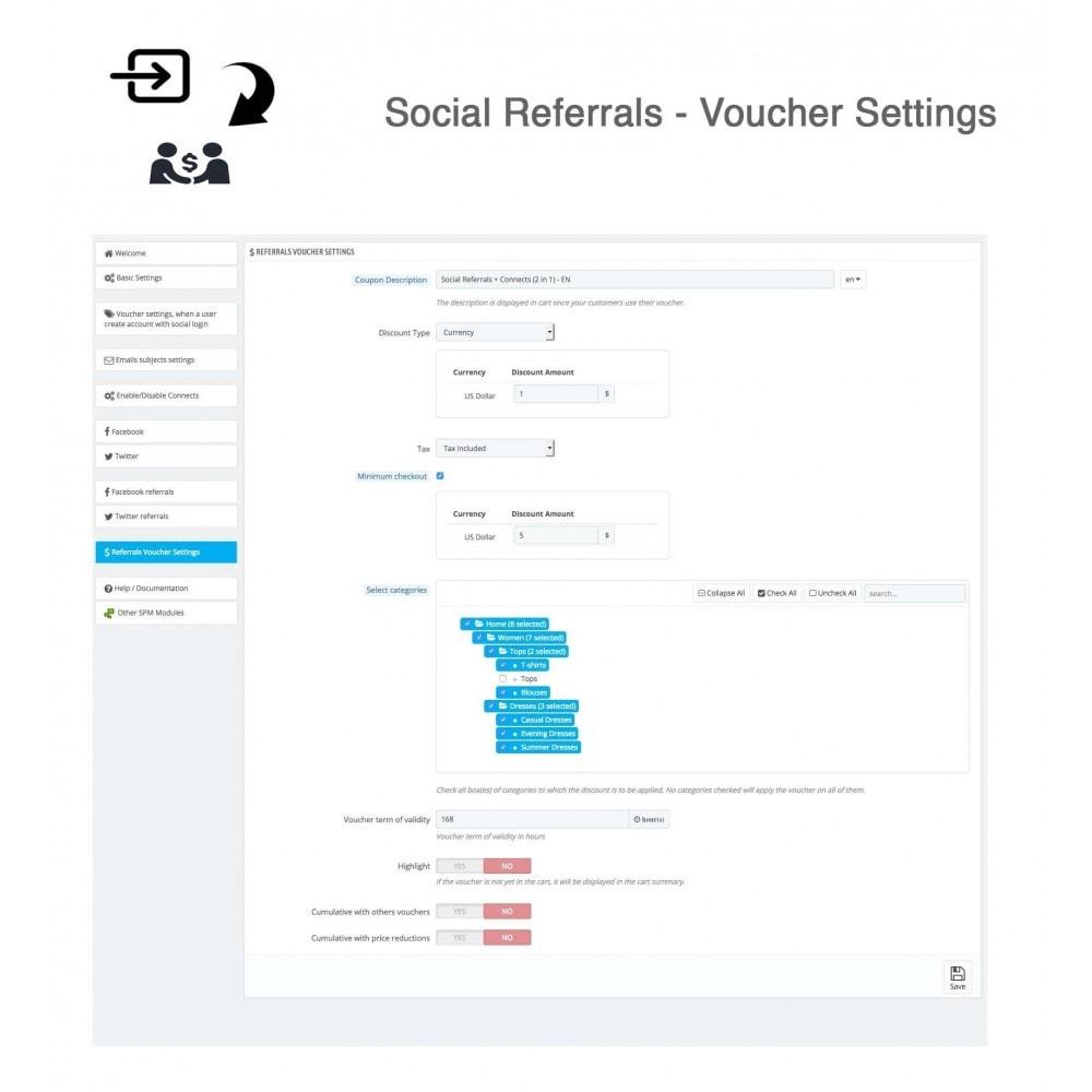 module - Gutschein in sozialen Netzwerken - Social Referrals + Connects (2 in 1) - 35